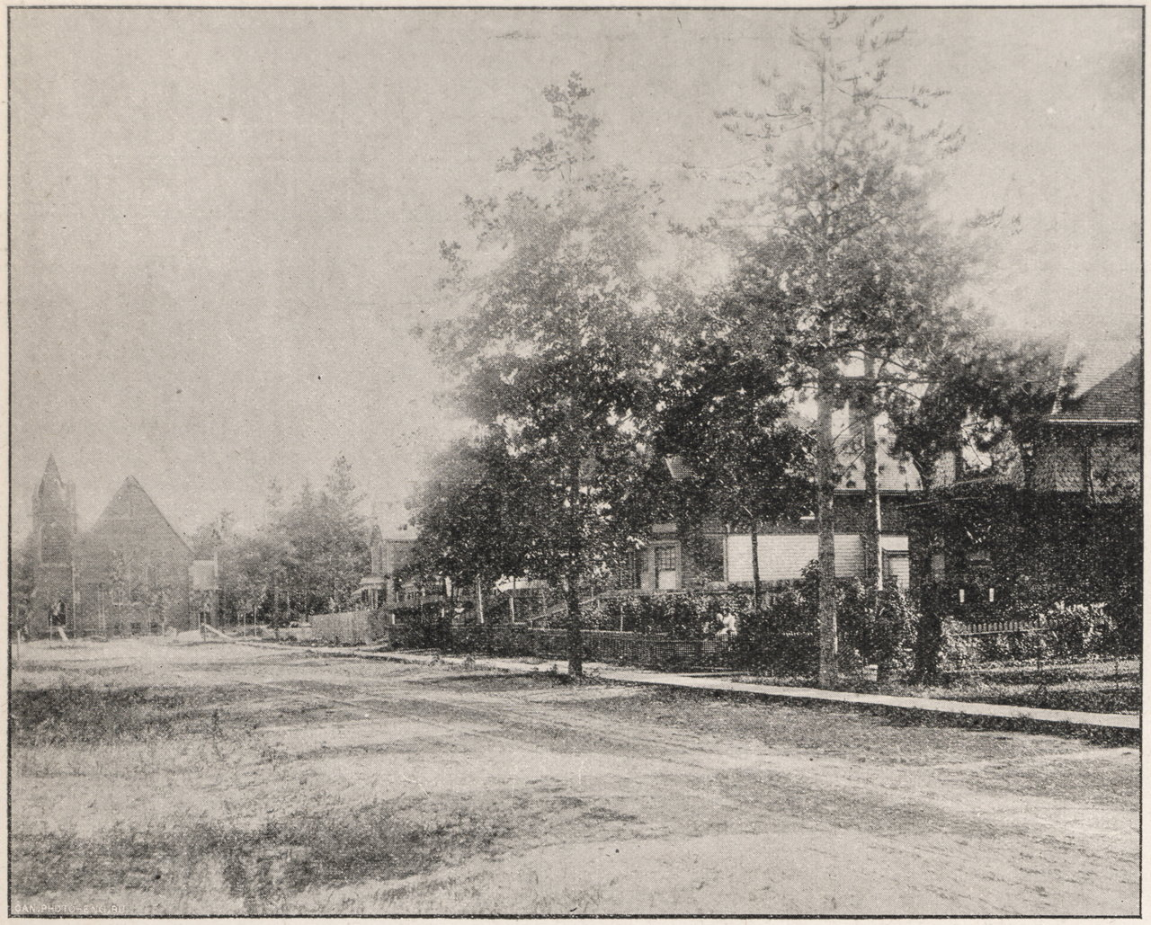 1894 January Enderby Road, west side, looking south from Gerrard Street East (then Lake View A...jpg