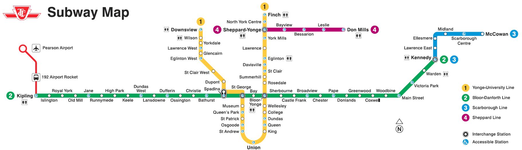 Toronto Subway Map Pdf.Ttc Other Items Catch All Page 86 Urbantoronto