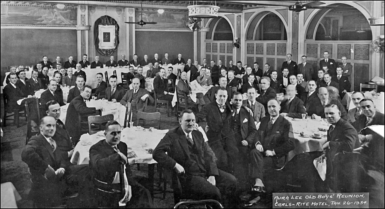Aura Lee Old Boys' Reunion 1934, held in the Grand Union Hotel, Front St. W., N-E corner Simco...jpg