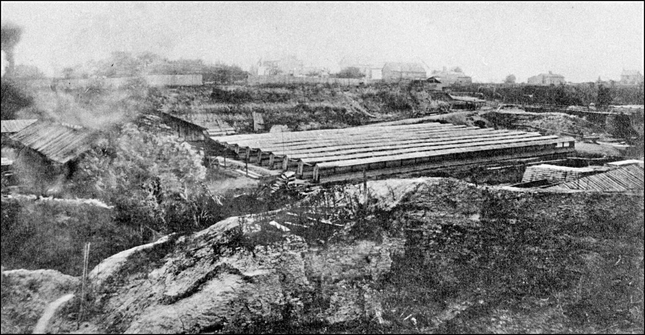 Brick Yards, Yonge St., west side, north of Belmont St. 188_? - Now site of Ramsden Park.  TPL.jpg