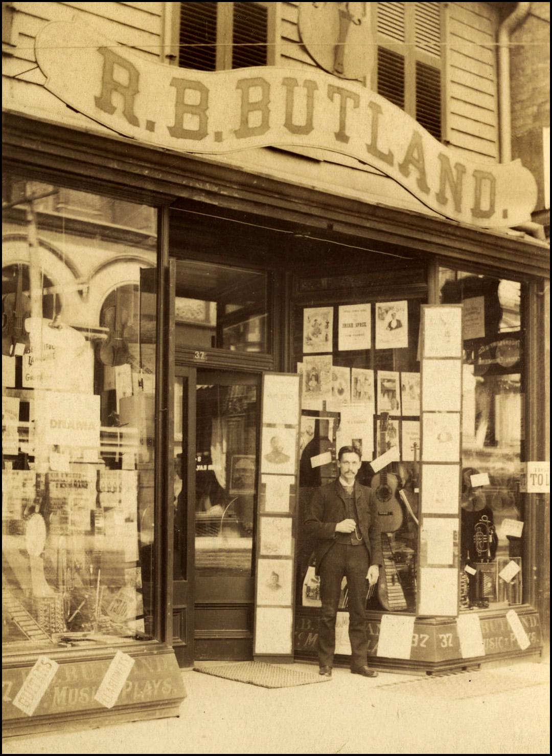 Butland, R.B. music dealer King St. W. south side between Jordan & Bay Sts. 1890.jpg