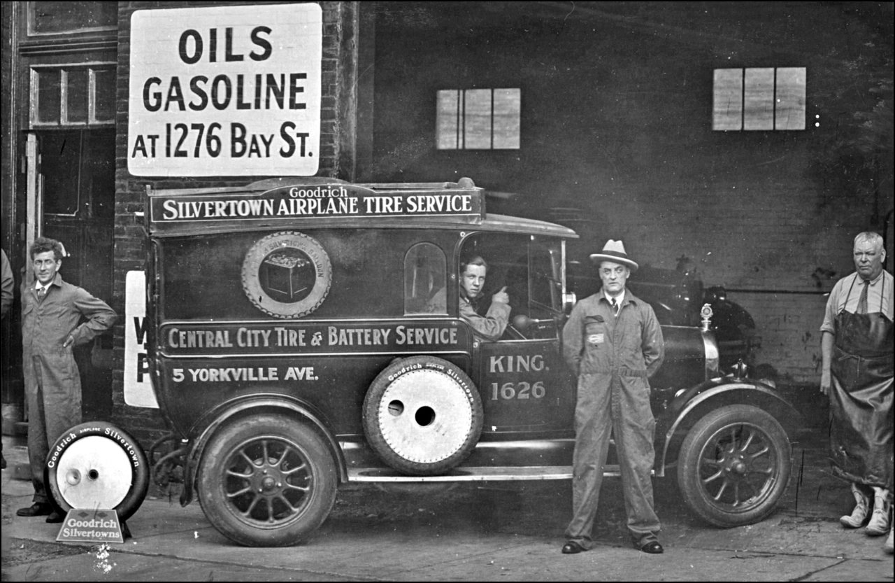 Central City Tire & Battery Service, Yorkville Ave., south side, west of Yonge St. 1930  TPL.jpg