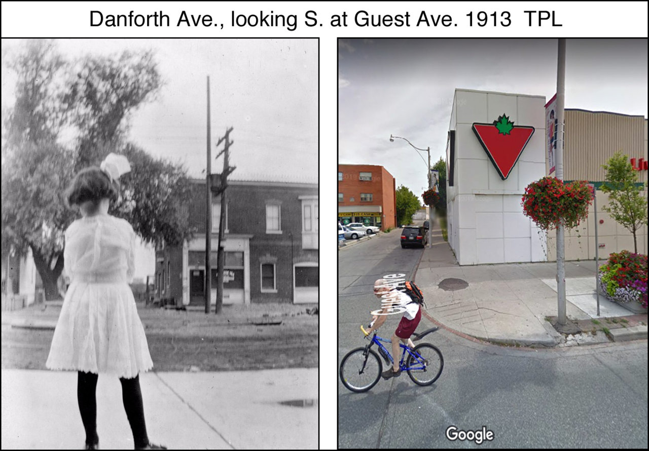 Danforth Ave., looking S. at Guest Ave. 1913  TPL.jpg