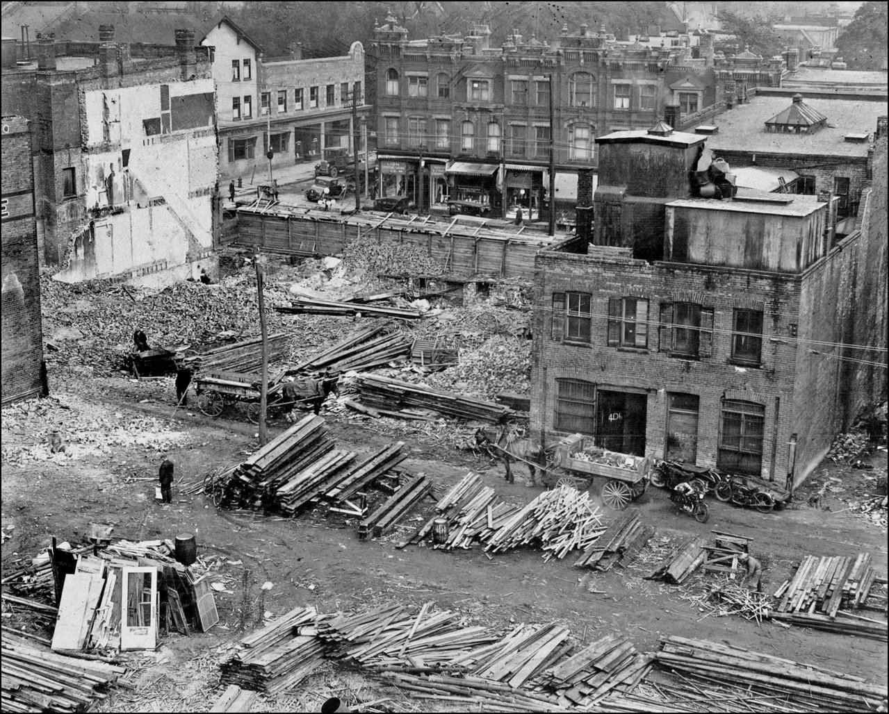 demolition underway for Eaton's College St. store 1928 TPL.jpg