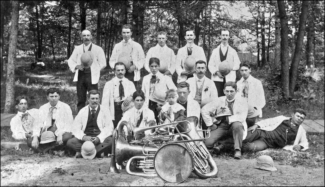 East Toronto Band, at practice on A.E. Ames property, Kingston Rd., s. side, between Lee Ave. ...jpg