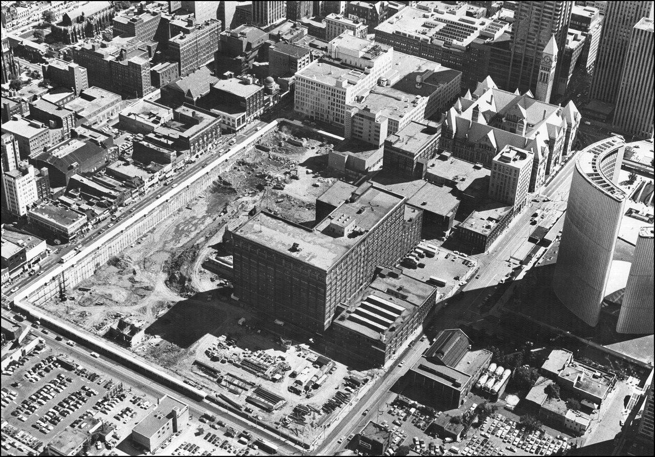 Eaton Centre construction site - Yonge-Dundas area 1974  TPL.jpg