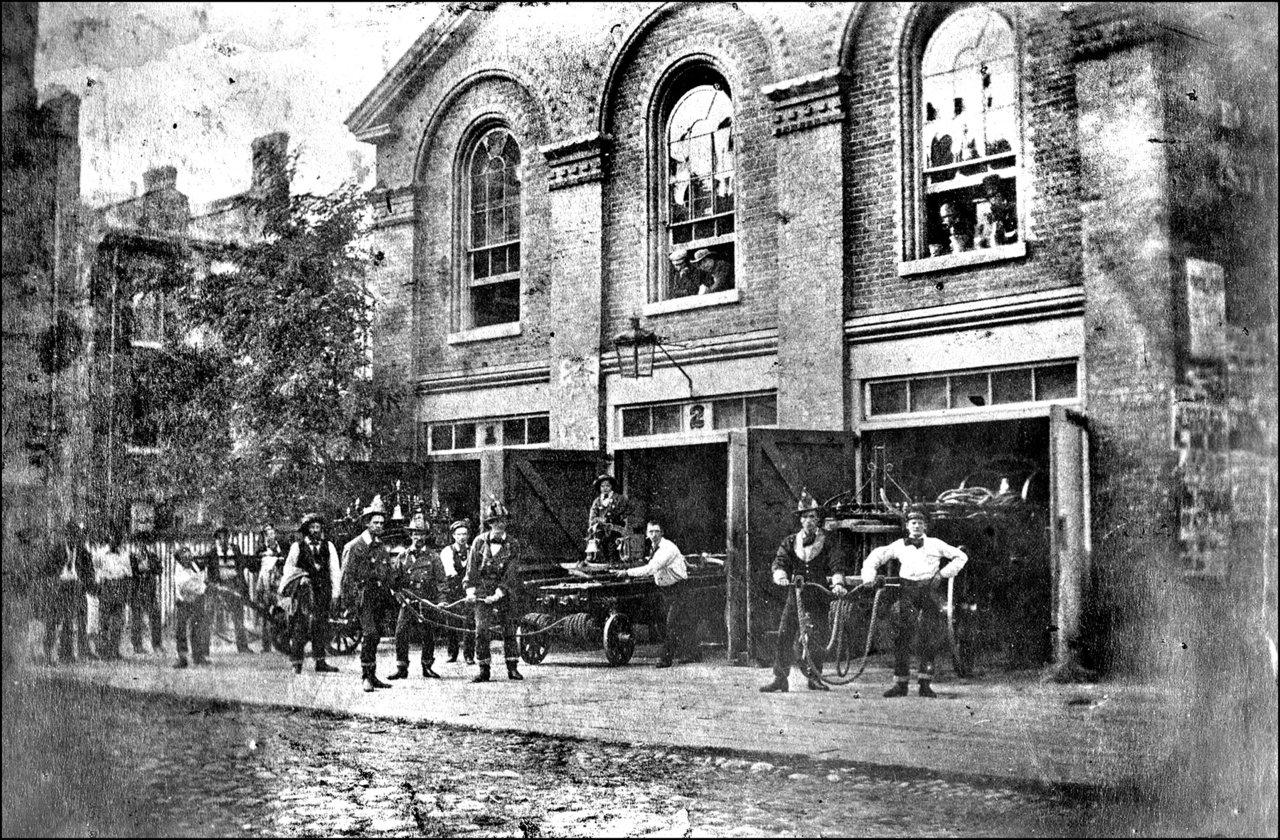 Fire Hall, Toronto, Court St., north side, between Toronto & Church Sts. 1860   TPL.jpg