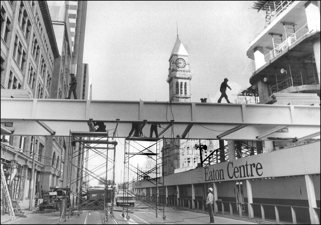 First bridge between Eatons and Simpsons 1978.