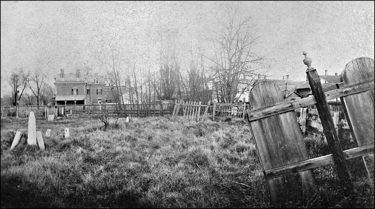 First Garrison Burying Ground 1885 - looking across Victoria Square toward SE corner of Portla...jpg