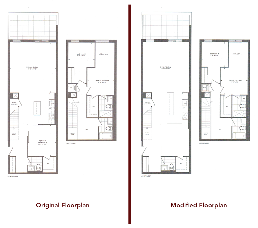 Furniture placement for a townhouse floor plan | UrbanToronto