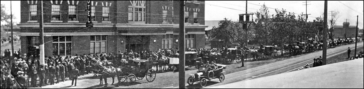 Funeral for George Empringham at his Hotel-Danfothh and Dawes Rd. 1915 TPL .jpg
