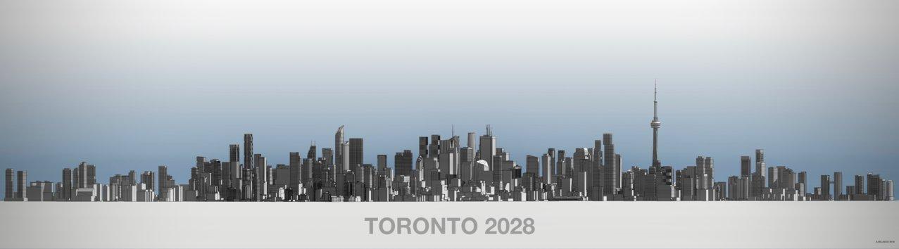 Future Toronto Skyline 2028.