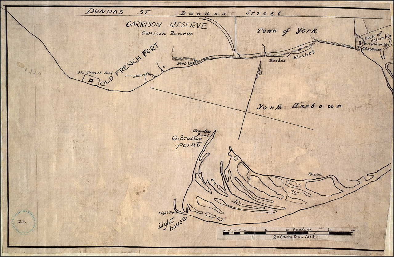Garrison reserve [and] town of York [1816]  TPL.jpg