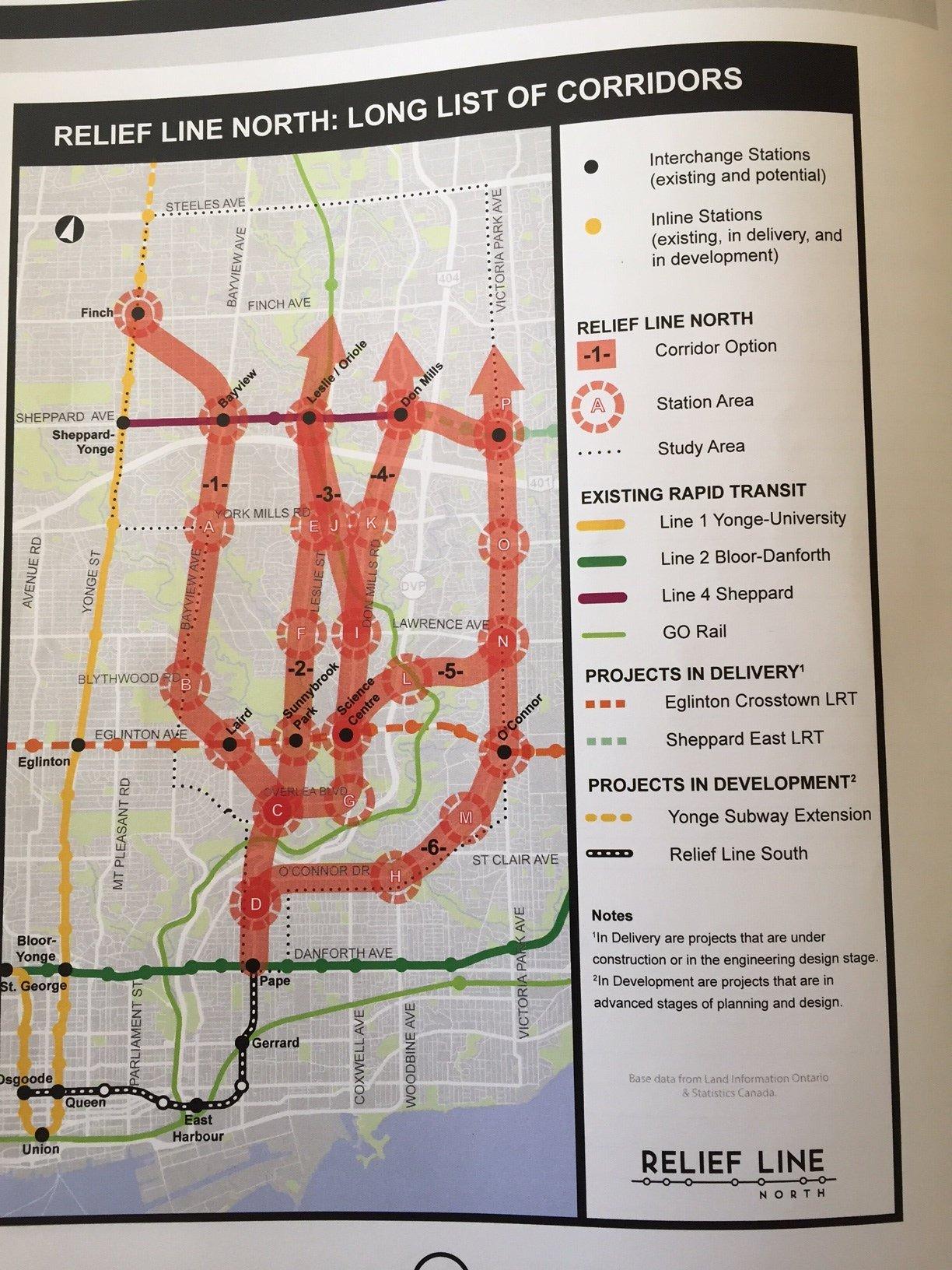 1 Subway Map.Ontario Line North Of Eglinton Was Relief Line North Speculation