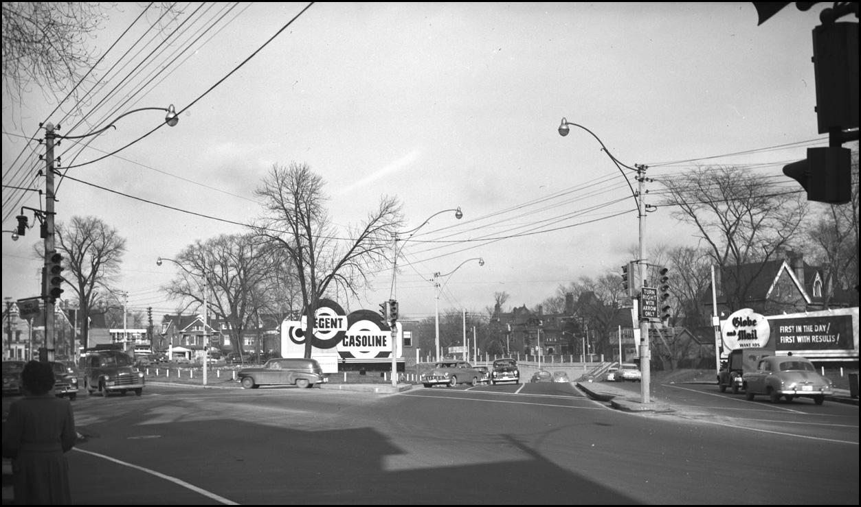 Jarvis St. at Mt. Pleasant Rd. 1952 TPL.jpg