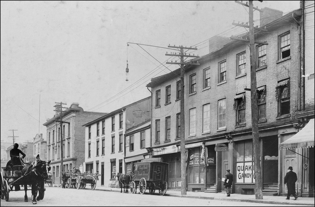 Jarvis St. E. side looking north between Adelaide & Richmond 1910 TPL.jpg
