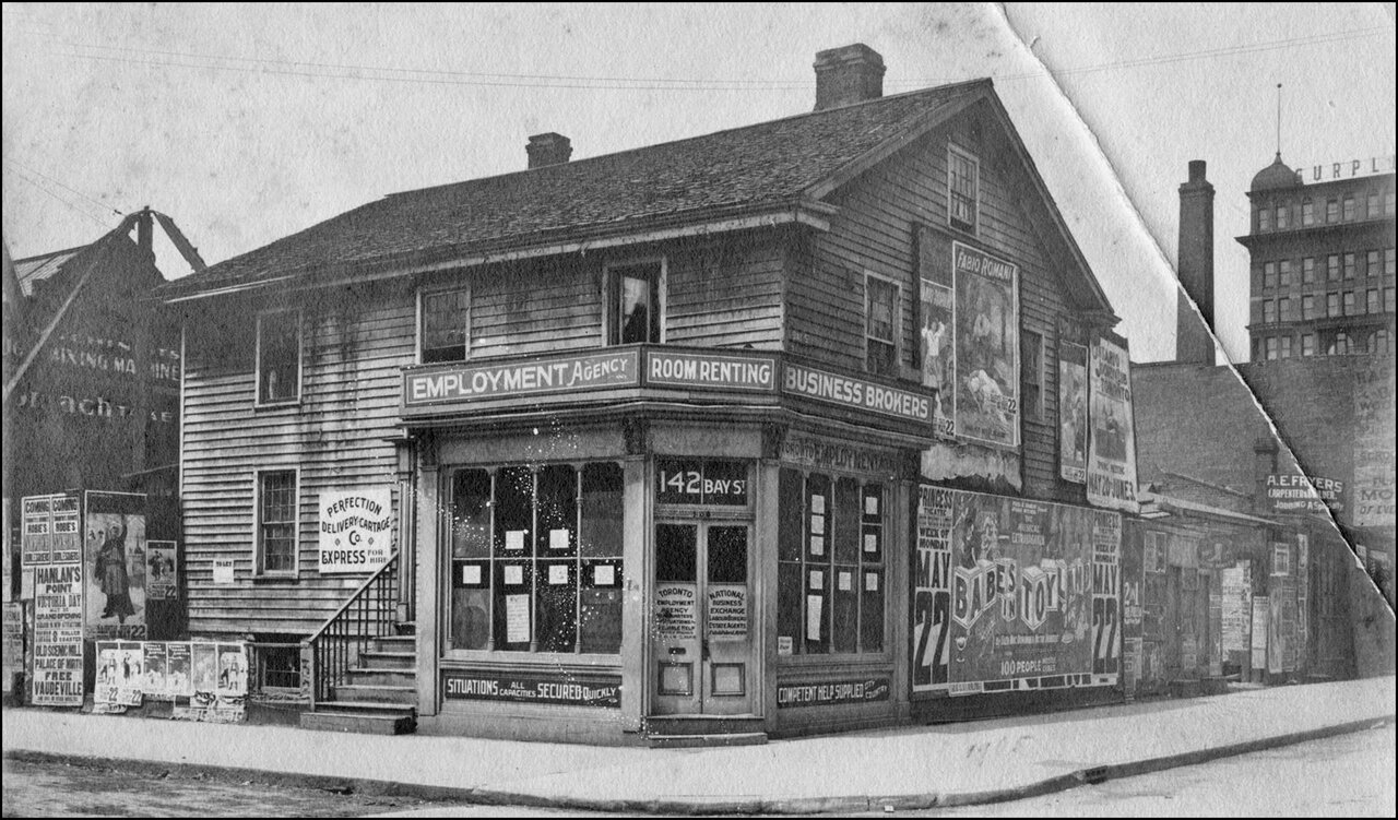 John Doel House, Adelaide St. W., N:W corner Bay St. 1905 - birthplace of the Louis Riel Rebel...jpg