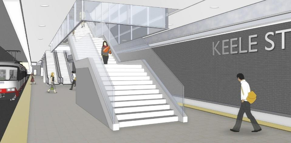 Keele Station platform view.
