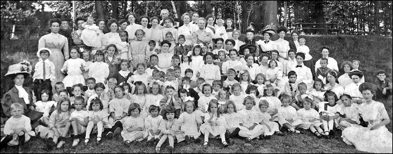 Kew Beach Presbyterian Church Sunday School teachers, mothers and students, possibly at 88 Bal...jpg