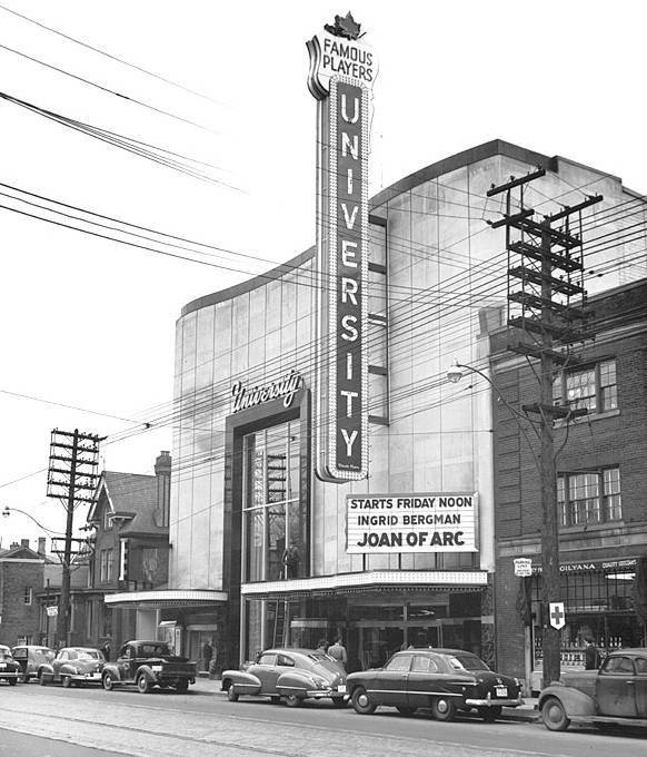 PHOTO - TORONTO - UNIVERSITY THEATRE - BLOOR STREET - STREET VIEW - 1948.jpg