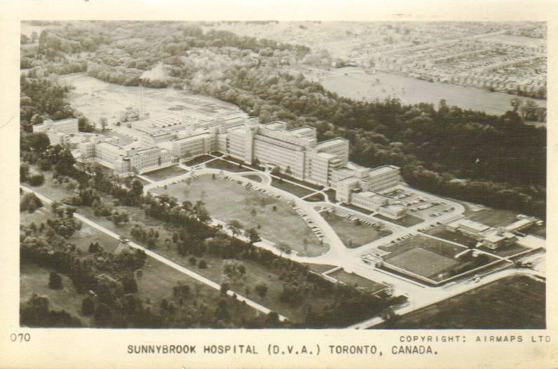 POSTCARD - TORONTO - SUNNYBROOK HOSPITAL - AERIAL - SEPIA.jpg