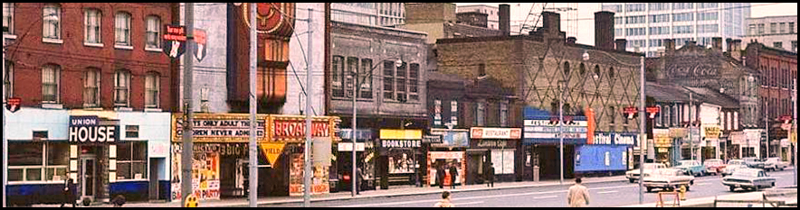 Queen St. W., S. side between Bay & York 1950s.jpg