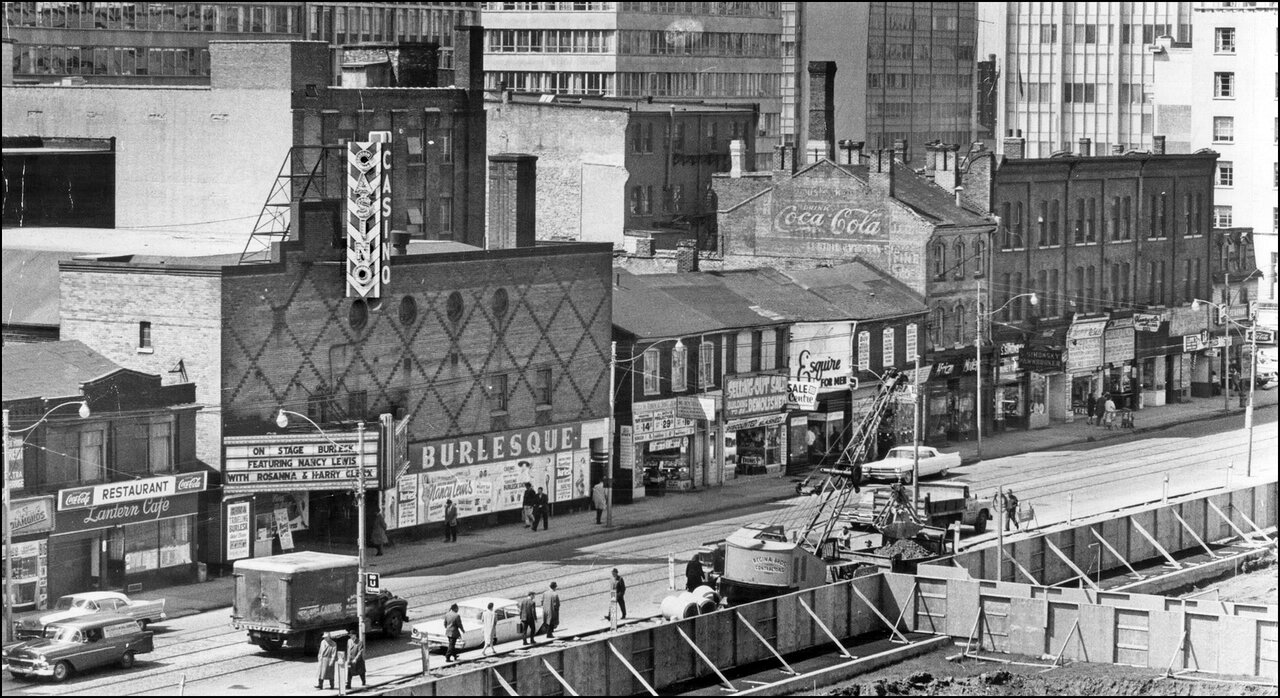 Queen St. West, S side  1963, This clutter of decay faces the site of Toronto's New City Hall....jpg