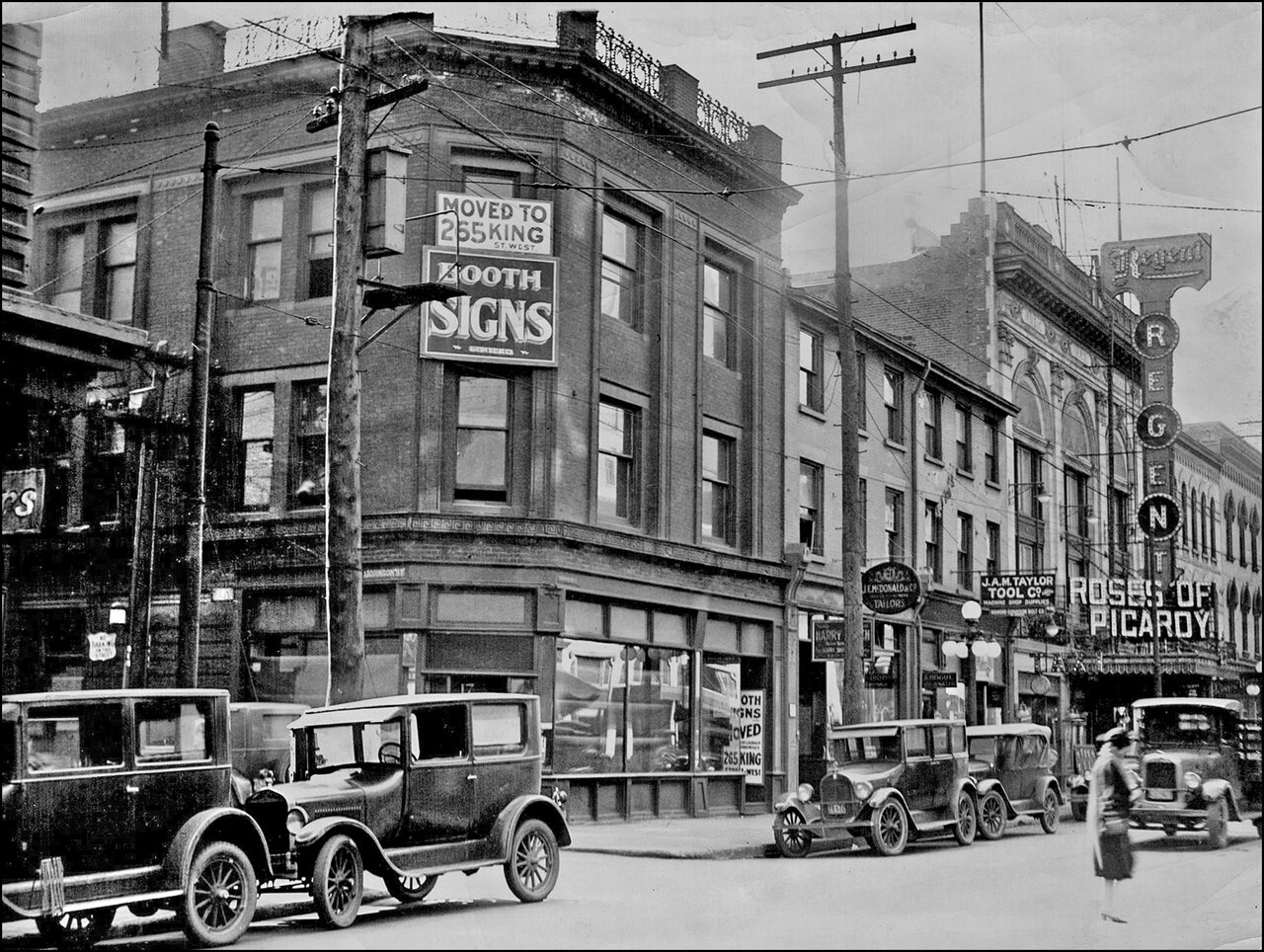 Regent Theatre, Adelaide St. W, S side, looking W from Yonge St. to Bay St. 1927  TPL.jpg
