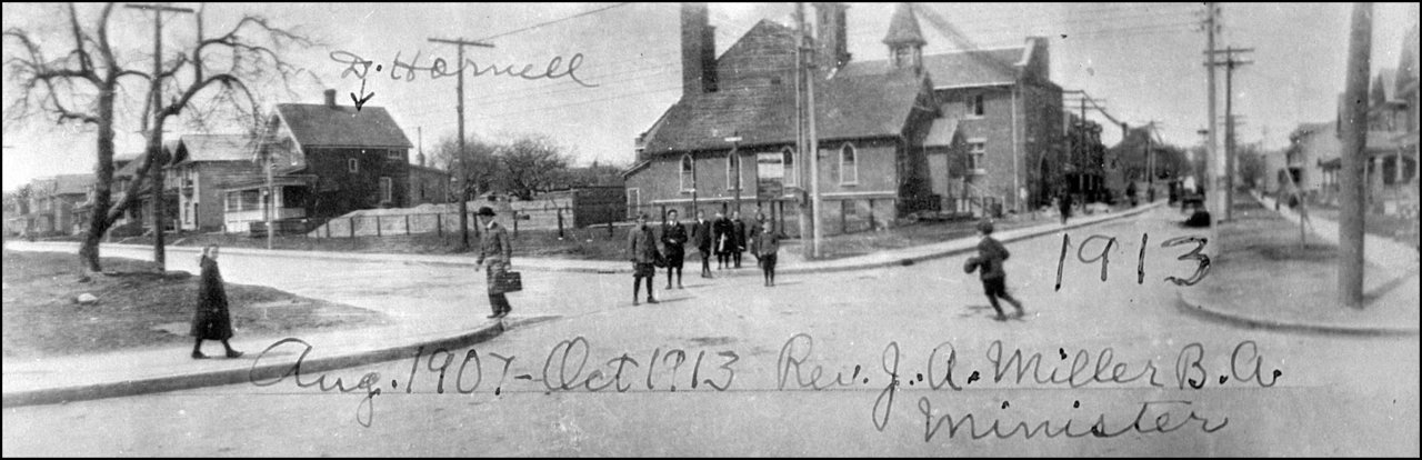 Riverdale Presbyterian Church, Pape Ave., north west corner Harcourt Ave. 1913  TPL.jpg