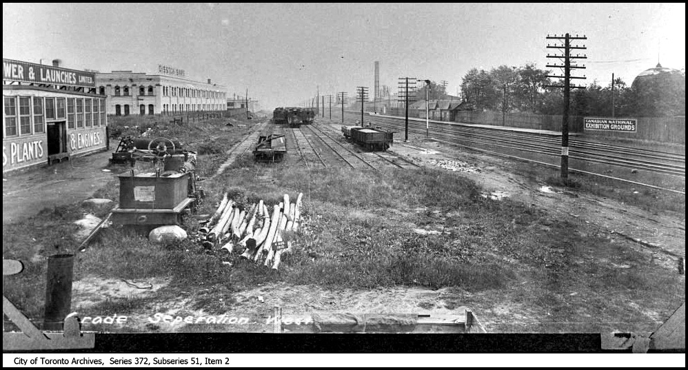 RR siding N. of CNE grounds looking E. from Duffern 1910 CTA.jpg