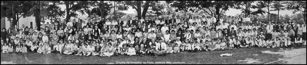 Simpson Ave Methodist SS picnic Wabasso Park-Hamilton 1924.