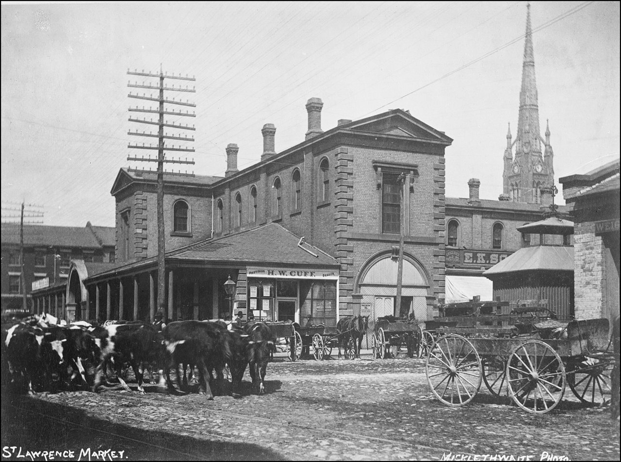 St. Lawrence N. Market (1850-1904), Front St. E., n. side, betw. Market & Jarvis Sts. 1888 TPL.jpg
