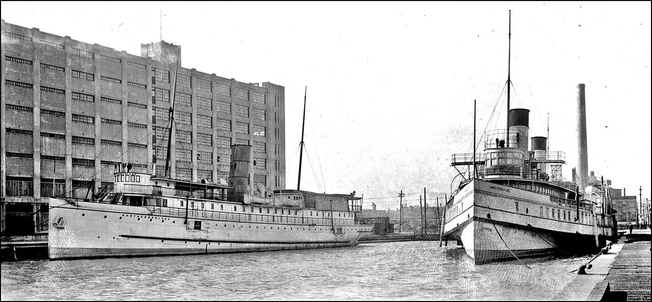 Terminal Warehouse wharf, Queen's Quay W., foot of York St. 1927  Northumberland at left, Chip...jpg