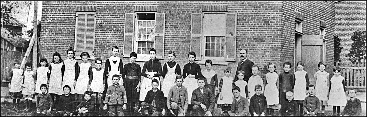 Third Willowdale School with teacher and pupils 1887  TPL.jpg