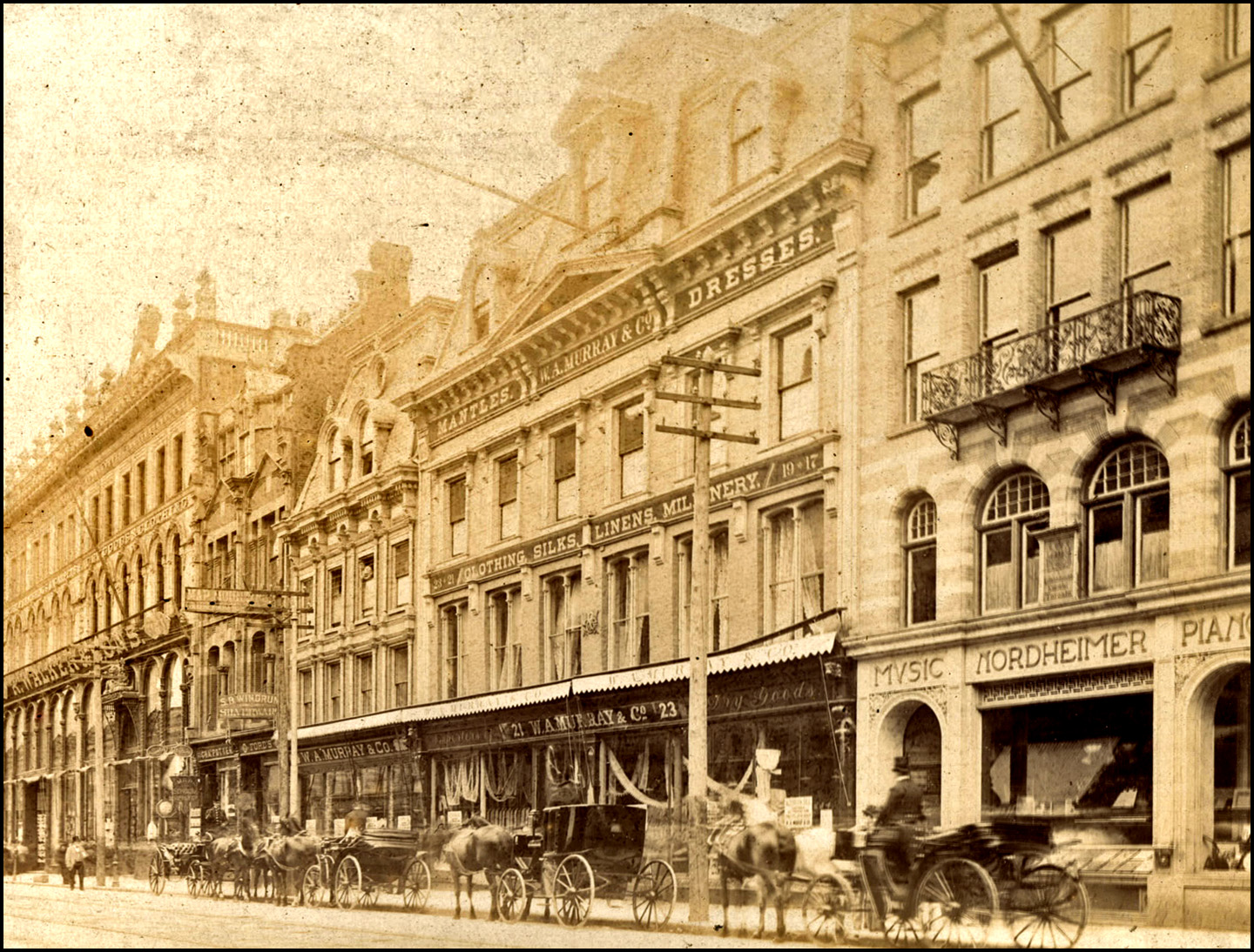 TN King St. E., Yonge to Church Sts., south side, from west to east of present Victoria St. 1895.jpg