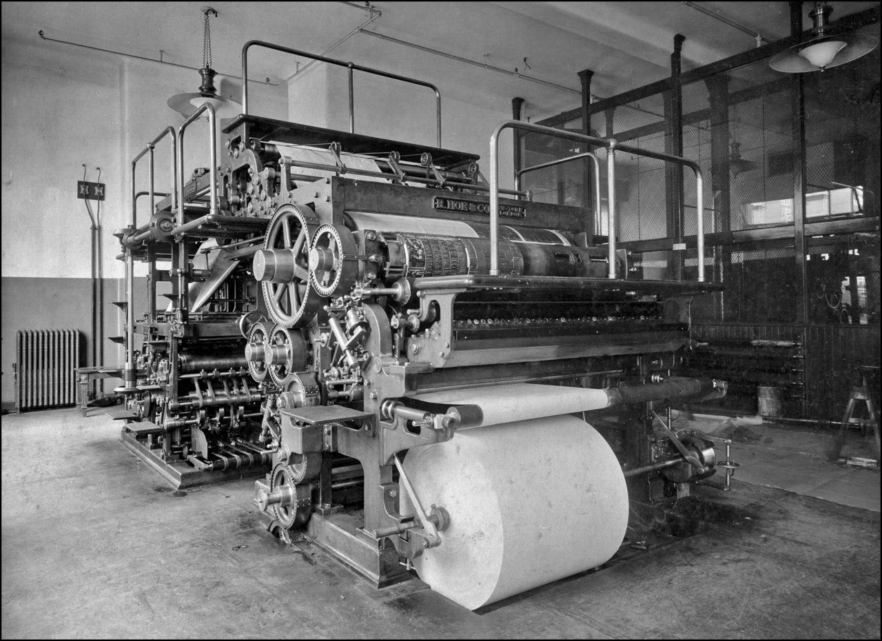 Toronto Telegram (1900-1963) press room 1904  TPL.jpg