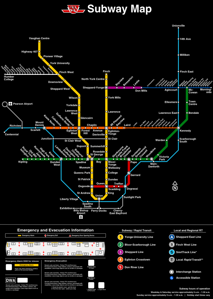 Fantasy Toronto Subway Map.Transit Fantasy Maps Page 268 Urbantoronto