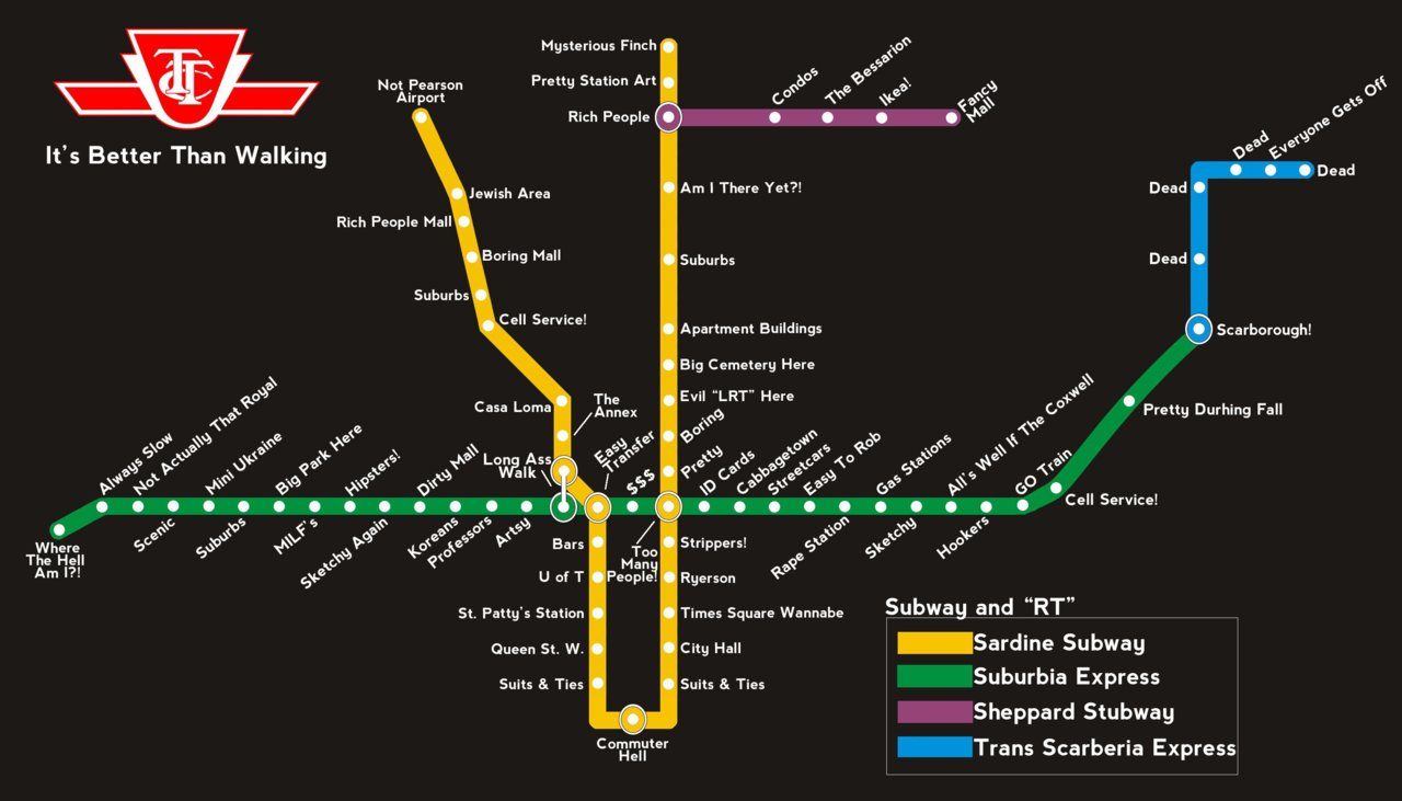 Ttc Subway Map Vs Actual.Debate On The Merits Of The Scarborough Subway Extension Page 118