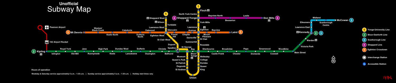 Ttc Subway Map Vs Actual.Ttc Cartography Signage And Wayfinding Page 7 Urbantoronto