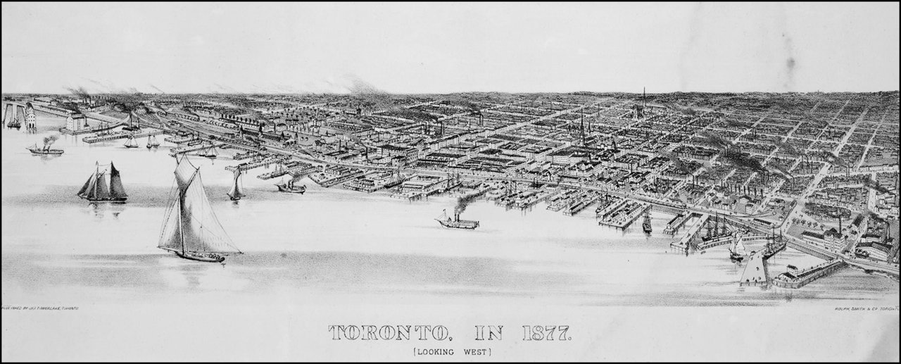Waterfront from Bathurst St. on the west to Trinity St. on the east 1877   TPL.jpg