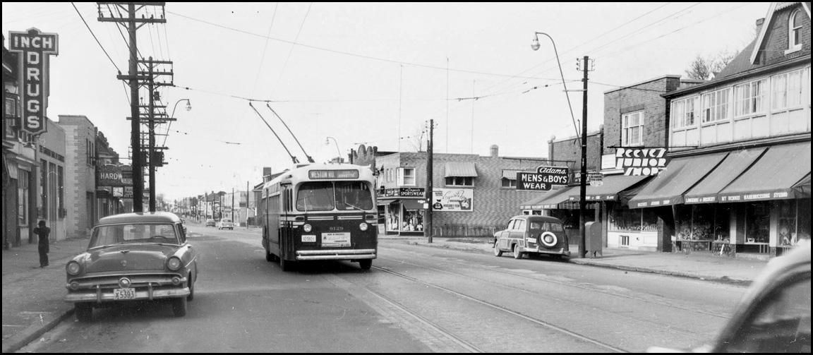 Weston Road, looking N:W from N of Hollis St. 1954  TPL.jpg