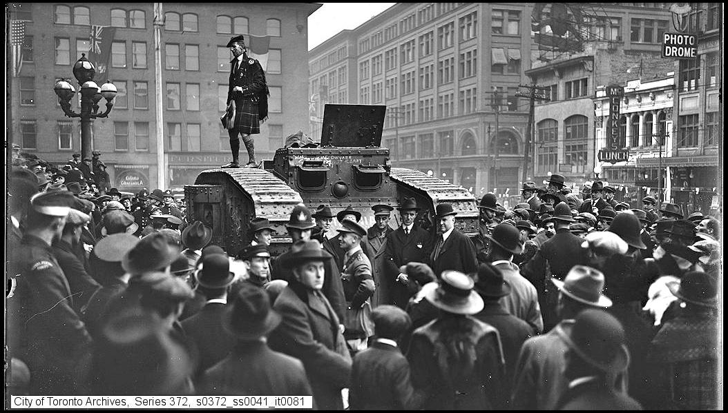 WWI tank at City Hall 1919.jpg