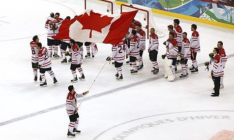 Team Canada Hockey Team Wins The Gold Medal At The 2010 Vancouver Olympics