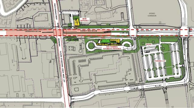 Finch West Station Site Plan, image courtesy of TTC / Stevens Group Architects /