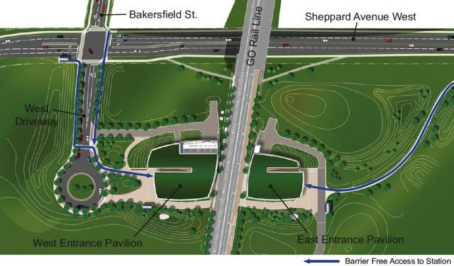 Downsview Park Station Location and Site Plan (Courtesy of TTC / Aedas)