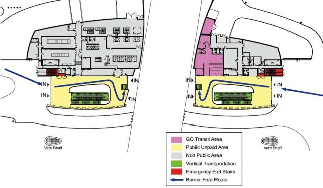Downsview Park Station Grade Level Plan (Courtesy of TTC / Aedas)