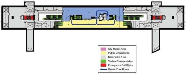 Downsview Park Station Concourse Level Plan (Courtesy of TTC / Aedas)