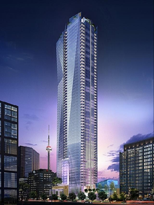 Shangri-La Toronto At Night Rendering