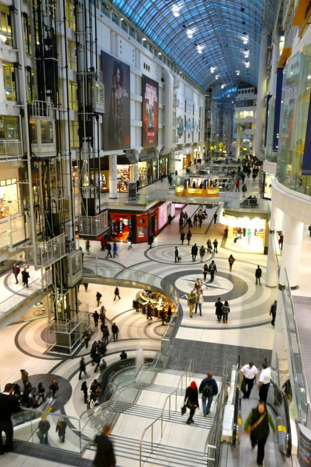 Rendering of Eaton Centre renovations by Cadillac Fairview