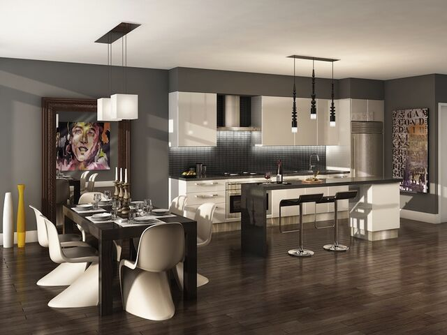 Motif Kitchen & Dining Area • Image courtesy of II By IV Design Associates